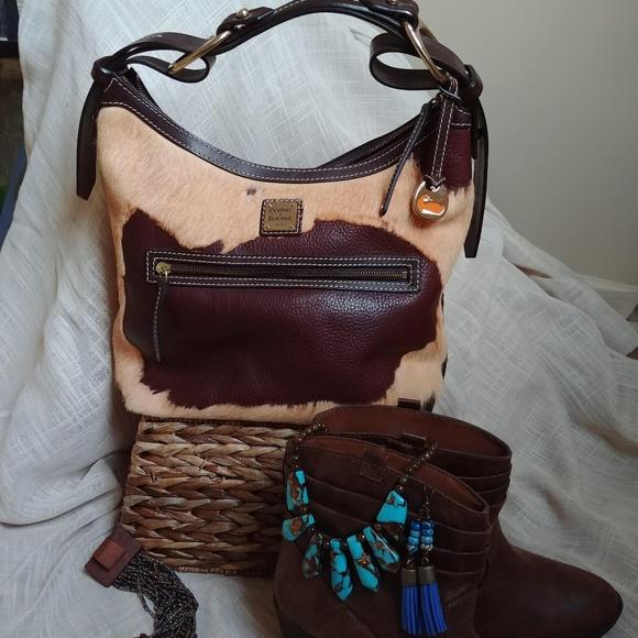 b35bb7b52eb7 Dooney & Bourke Bags | Rare Calf Hair Hobo Bag | Poshmark